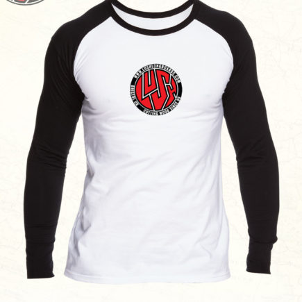 "LUSH ""Circle"" Raglan Black/White"